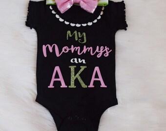 My Mommy's an AKA Bodysuit Tshirt