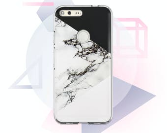Geometry Marble Case Google Case Black Marble Pixel Case Case for Google Pixel White Marble Phone Case Silicone Phone Case Pixel XL MC1052