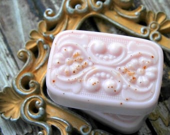 Pink Sugar Cinnamon Soap . Handmade Soap with Coconut Oil Shea Butter and Natural Glycerin . 3.75oz