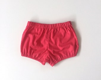 cerise cotton bloomers / shorts / diaper cover