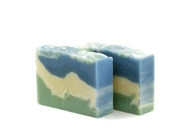 Fresh Breeze Soap   Cold Processed Soap, Luxury Soap, Vegan Soap, Facial Soap Bar, Soap Gift For Dad, Gift Idea for Women, Best Friend Gift