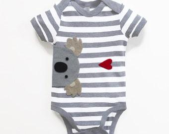Baby Koala Bodysuit : Baby Boy,  Baby Boy Shower, New Baby Boy