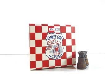 Vintage Tobacco Box / Yankee Girl Scrap Tobacco Advertising Cardboard Box / General Store Display Box