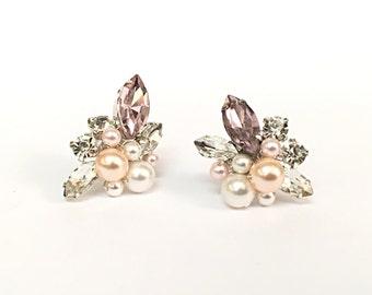 Pearl Wedding Earrings Studs, Pearl Wedding Earrings, wedding stud earrings, silver earrings for wedding, wedding jewelry earrings studs