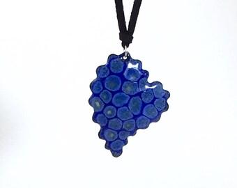 Heart Necklace, Enamel, Hand Made Jewelry, Wearable Art