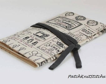 Sewing Tool Roll/Sewing Case/Sewing Utility Case/Fabric Sewing Roll/Sewing Travel Case/Fabric Tool Roll/Sewing Gift/Craft Organiser