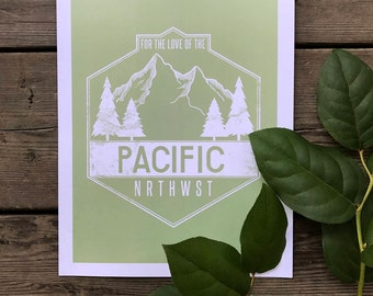 end of summer SALE - for the love of the pnw - celery - wall art - wall decor