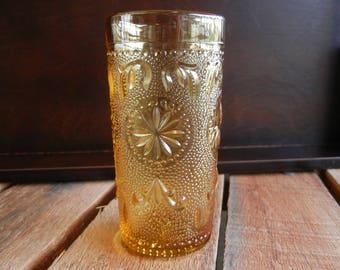 Vintage Juice Glass, American Concord Amber, Brockway Glass Co