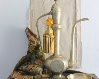 Vintage Middle Eastern Brass Coffee Pot