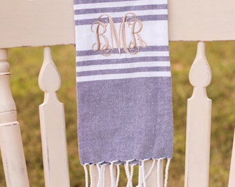 Monogrammed Tea Towel | Hand Towel | Monogram Kitchen Towel | Housewarming Gift | Hostess Gift | Gifts for Her | Fringe | Farmhouse Towel