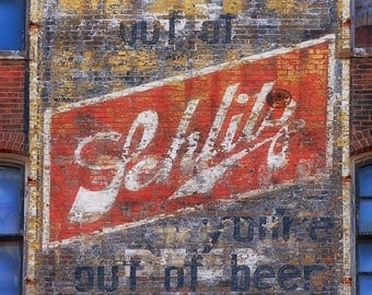 Lustre Print: Schlitz Beer Ghost Sign