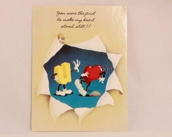 NEW! 1983 American Greetings Something Else Love Greeting Card and Envelope.