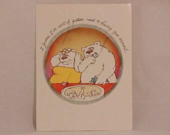 NEW! 1983 American Greetings Something Else Love Greeting Card and Envelope. Polar Bear