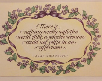 Among Friends Greeting Cards. One Card and Envelope. For Women