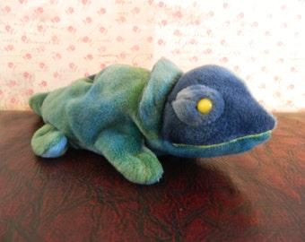 """TY Blue Iguana Beanie Baby """"Rainbow"""" (B)"""