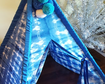 Boy's Blue Teepee, Tent, KIds Tent, Play Tent, Teepee, Kids Teepee, Teepee Tent