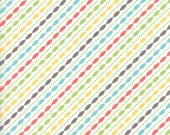 Lulu Lane Petal Stripe fabric in White Multi by Corey Yoder for Moda Fabrics #29026-11