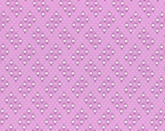 Retro 30's Child Smile Small Geo Flowers fabric in Purple from Lecien #31441-110 Fall 2016