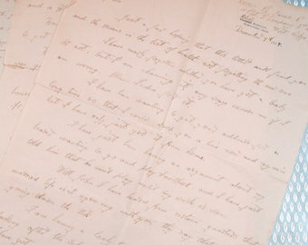 Antique 1927 Dated Handwrtten Personal Letter - Private Richard James from the Kings Own Regiment