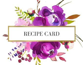 Recipe Card - Bridal Shower