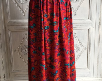 Vintage Monsoon Skirt Aztec Print - Size 14