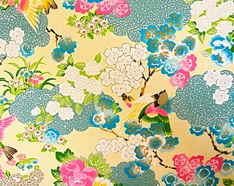 Birds and Clouds Fabric