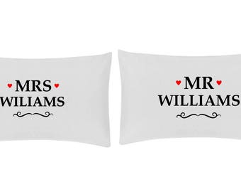 Personalised Pillow Case Set