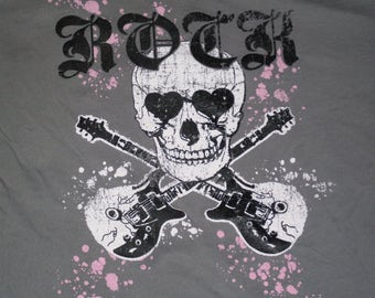 Womans Skull Rock Tee size M