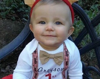 My First Christmas Outfit, Baby boy's first Christmas outfit, Christmas outfit, little boy first Christmas ,Christmas Onesie