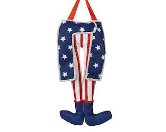 Uncle Sam Legs: Red/White/Blue-Patriotic Wreath Kit/Wreath Supplies/Patriotic Decor/30020126