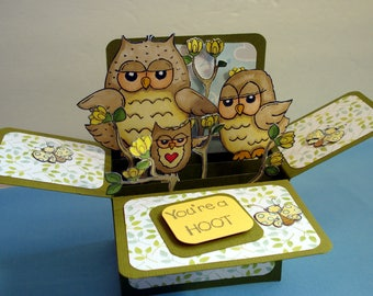 owl box card/birthday card