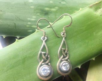 Sirena Sterling silver vintage earrings