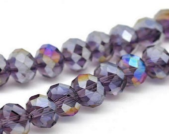 70 violets 8mm faceted Crystal beads
