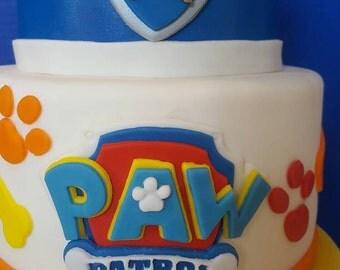 Fondant Paw Patrol Logo