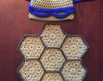 Ninja Turtle Newborn/Hat Mask and Shell