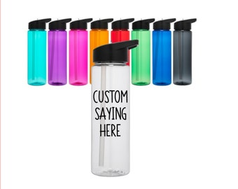 Custom Water Bottle // Custom Bottle // Personalized Bottle // Gym Bottle // Custom Sports Bottle // 24oz Bottle // Unique Gifts under 20