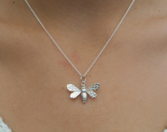 Bee pendant on chain