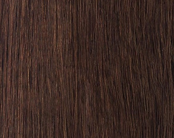 4-Medium Brown-100% Human Hair Flip-in(Halo style) extension