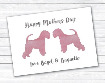 Personalised Mothers Day Dog Card, dog mothers day greetings card