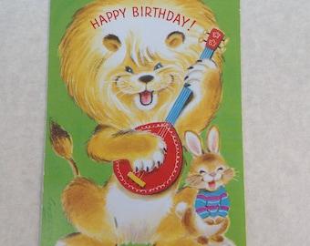 Vintage Happy Birthday card ( unused)