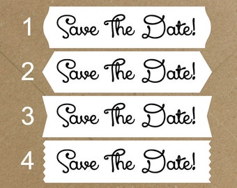 Envelope Seals / Stickers - Save The Date #729 Qty: 30 Stickers
