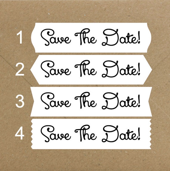 Envelope Seals / Stickers - Save The Date #729 Qty: 40 Stickers
