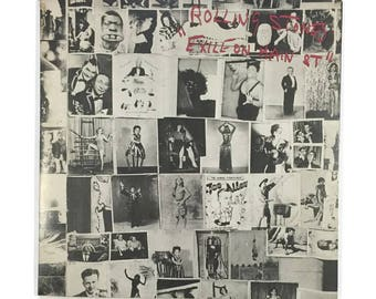 "The Rolling Stones, ""Exile on Main St,"", vinyl record album, classic rock LP, 1970s, keith richards, mick jagger, first edition, postcards"