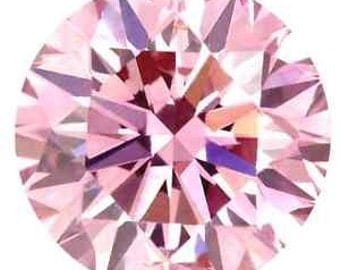 New 1-5 ct Fancy PINK Round Brilliant  Lannyte Simulated Diamond IF Loose Simulant Diamond Lab Simulated Diamond Looks Like Natural Diamond