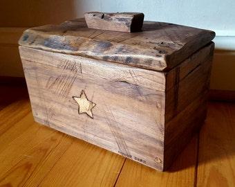 Rustic American black walnut storage box