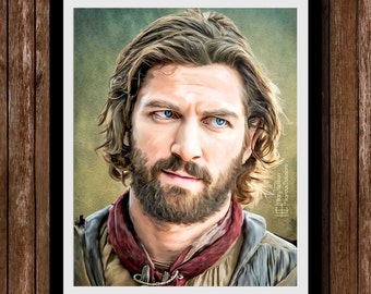 Daario Naharis Digital Painting Print, Game of Thrones