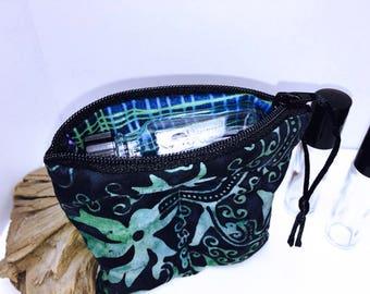 Essential Oil Travel Case, Batik Vape Juice Case, 2-3 Bottle Essential Oil Case, e-cig Juice Storage, Young Living Oil Bag, Vape Bag