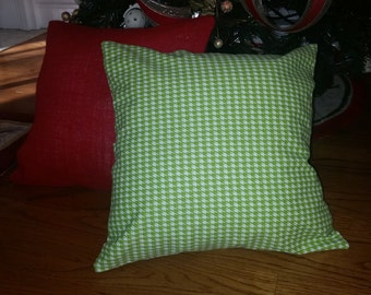 White and Red Floral Pillow Cover with Velcro Closure