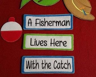 Fisherman Yard Sign