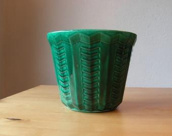 Vintage French majolica pot